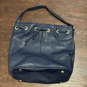 Merona navy blue tote purse